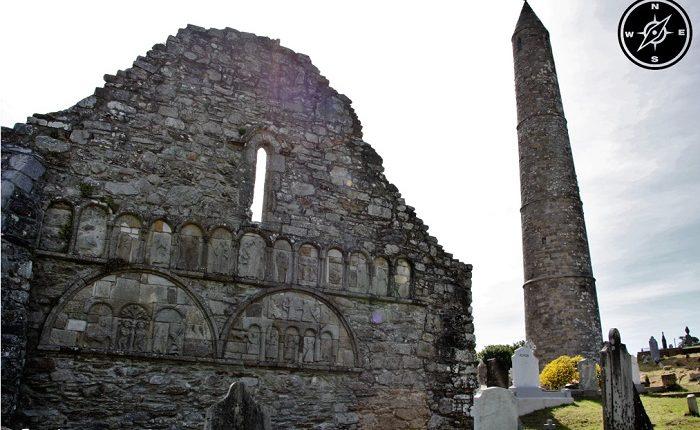 ardmore - la cattedrale di san declan e la torre circolare