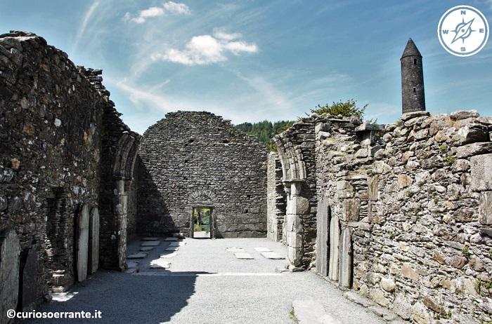 glendalough irlanda - Cathedral St.Kevin