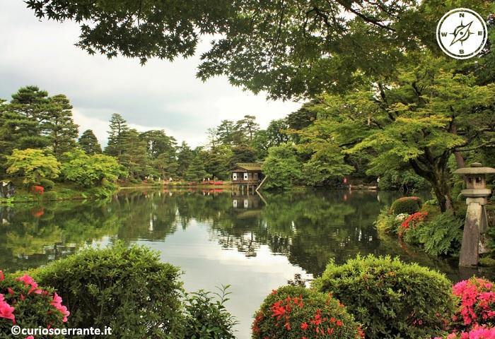 Kanazawa - Giardino Kenroku-en laghetto centrale