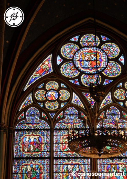 Parigi - Notre Dame - Finestre con vetrate