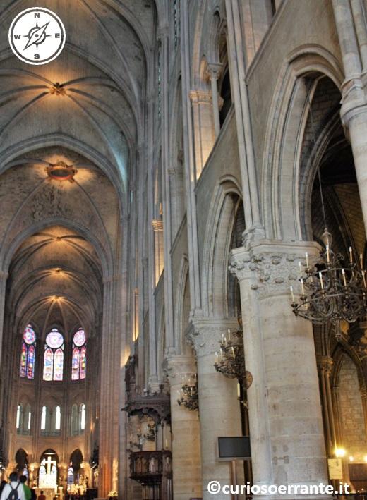 Parigi - Notre Dame - Interno della chiesa