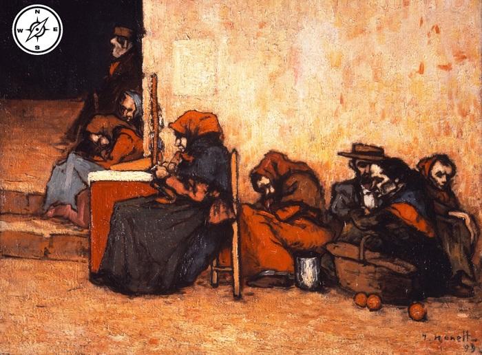 Isidre Nonell - Esperando la sopa (1899)