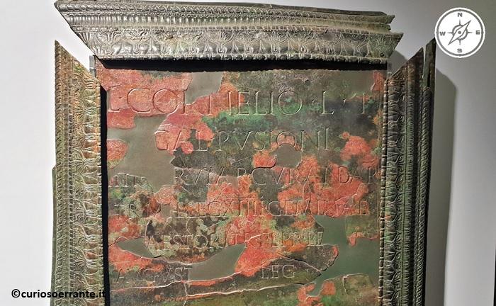 Museo Nazionale Romano - Epigrafe in bronzo