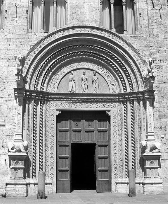 Perugia - Palazzo dei Priori - Portale delle Arti