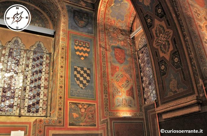 Sala dei Notari del Palazzo dei Priori di Perugia - stemmi