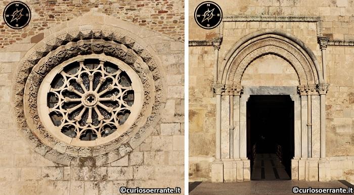 Vasto - Cattedrale di San Giuseppe portale e rosone