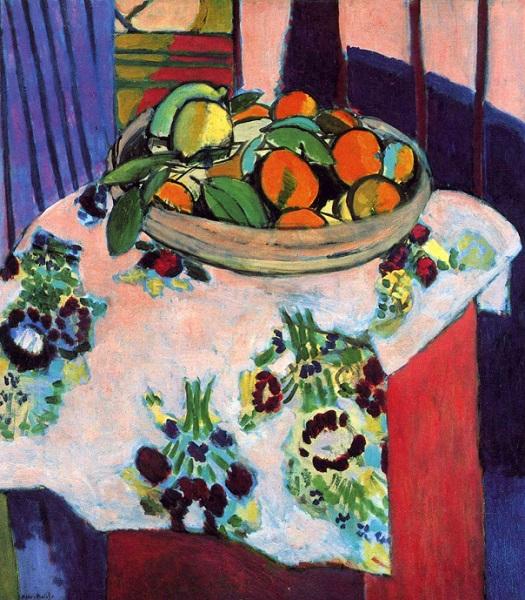 Henri Matisse - cesto con arance (1913)