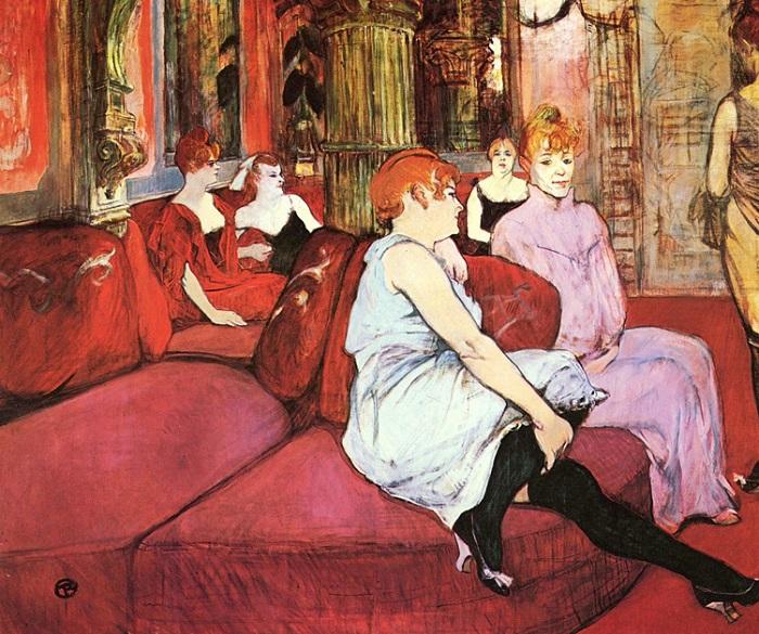 Henri-de-Toulouse-Lautrec-Al-salon-de-rue-des-moulins-1894