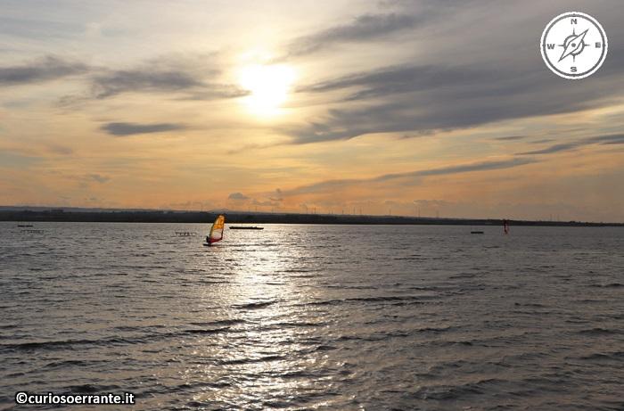 Lesina - tramonto sul lago di lesina