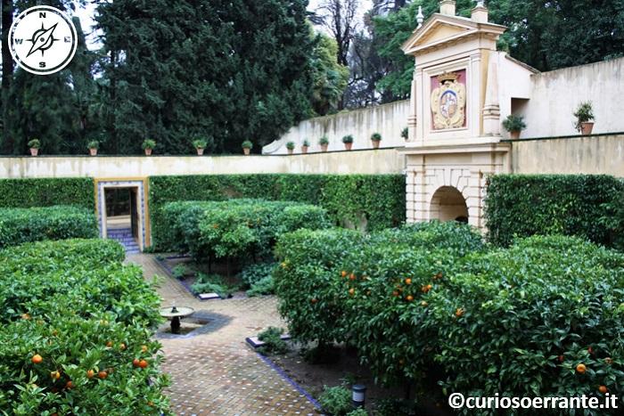Siviglia - I numerosi giardini del Real Alcazar