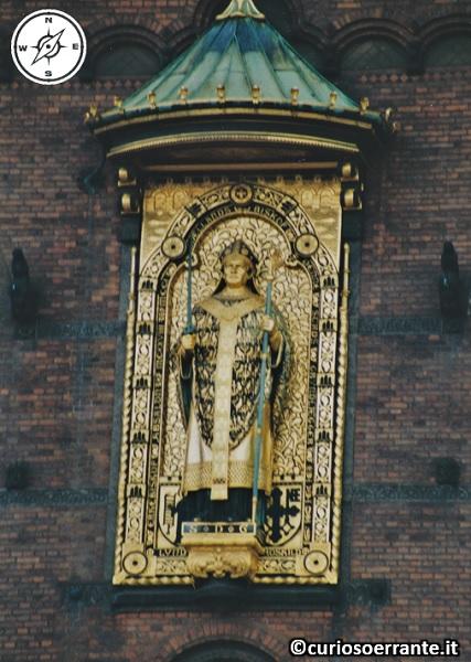 Copenaghen - Radhus - Statua di Absalon