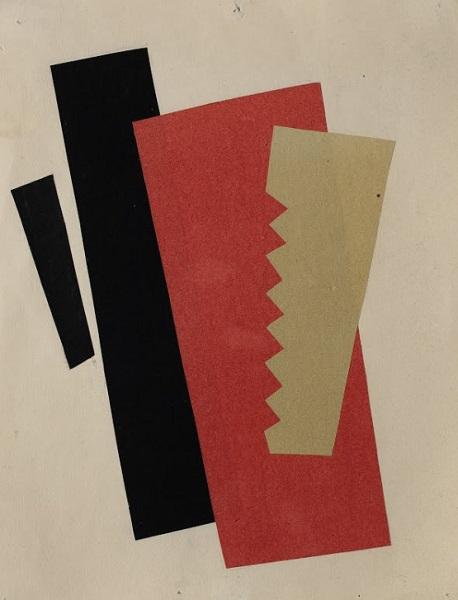 Ljubov Popova - Composizione (Rosso Nero e Oro) (1920)