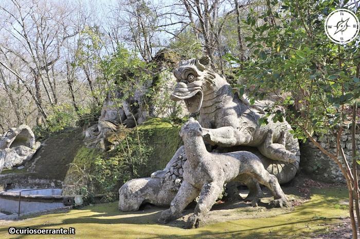 Il Parco dei Mostri di Bomarzo - Animali e draghi