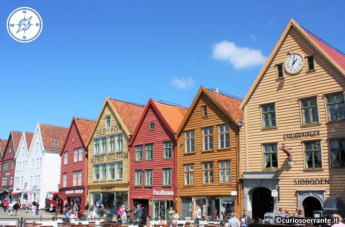 Bergen - Bryggen antichi edifici in legno