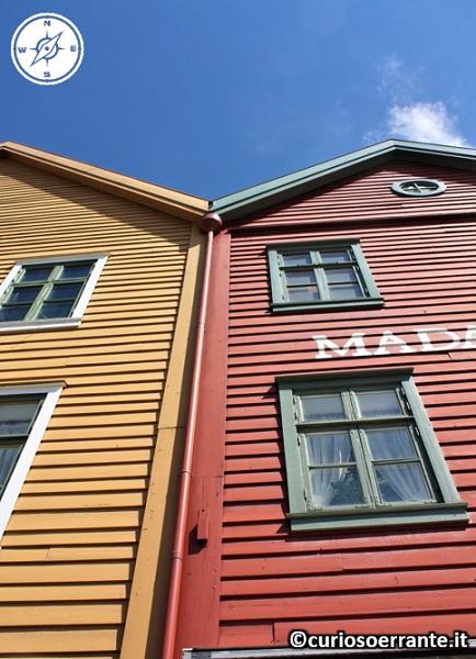 Bergen - Bryggen facciata edifici storici