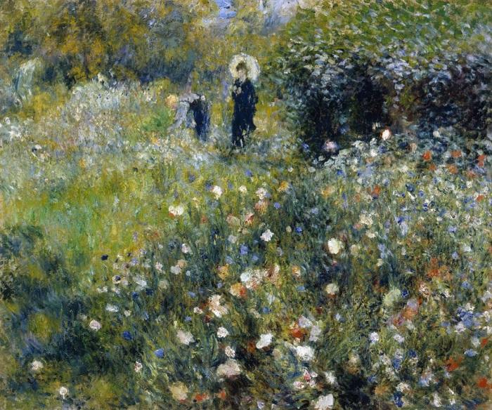 Pierre-Auguste Renoir - Donna con il parasole in giardino 1875