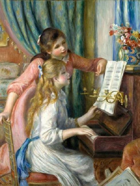 Pierre-Auguste Renoir - Due giovani ragazze al piano 1892