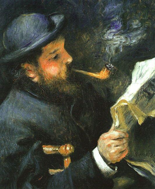 Pierre-Auguste Renoir - Monet che legge 1872