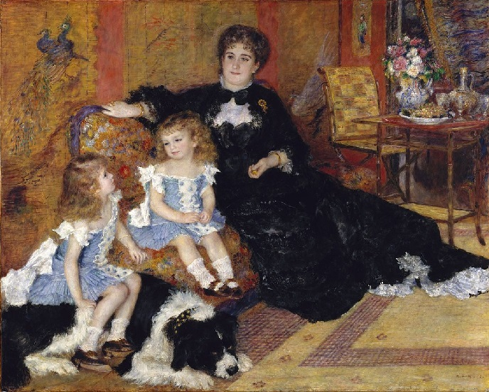 Pierre-Auguste Renoir - Ritratto di Madame Georges Charpentier e le sue figlie 1878