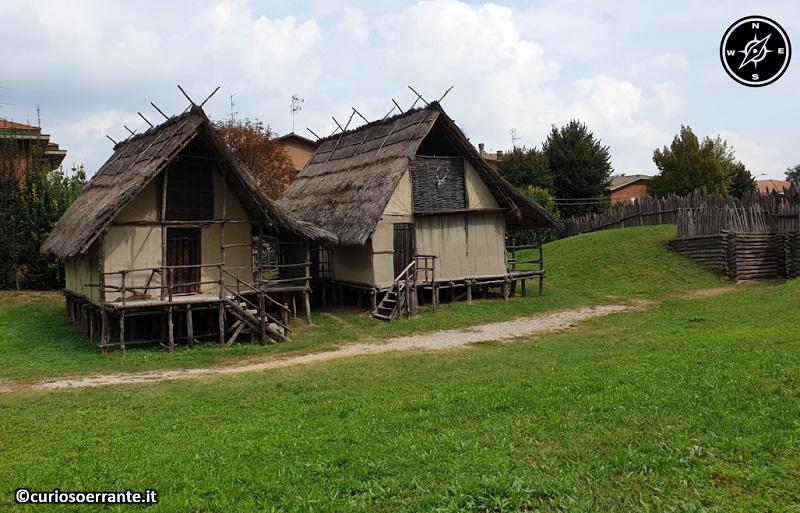 Terramara di Montale - ricostruzione del villaggio