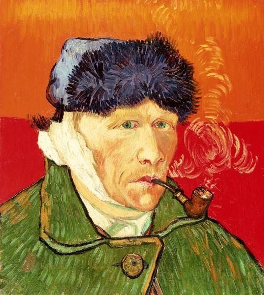 Van Gogh - Autoritratto con orecchio bendato e pipa