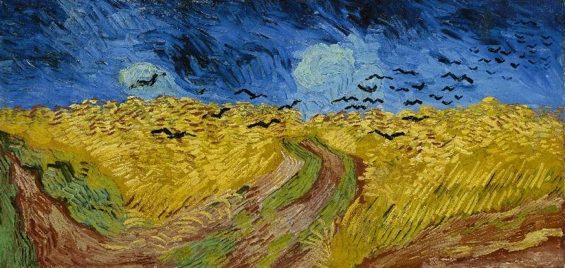 Van Gogh - Campo di grano con volo di corvi 1890