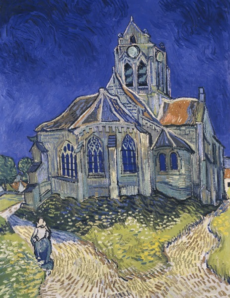 Van Gogh - La chiesa di Auvers 1890