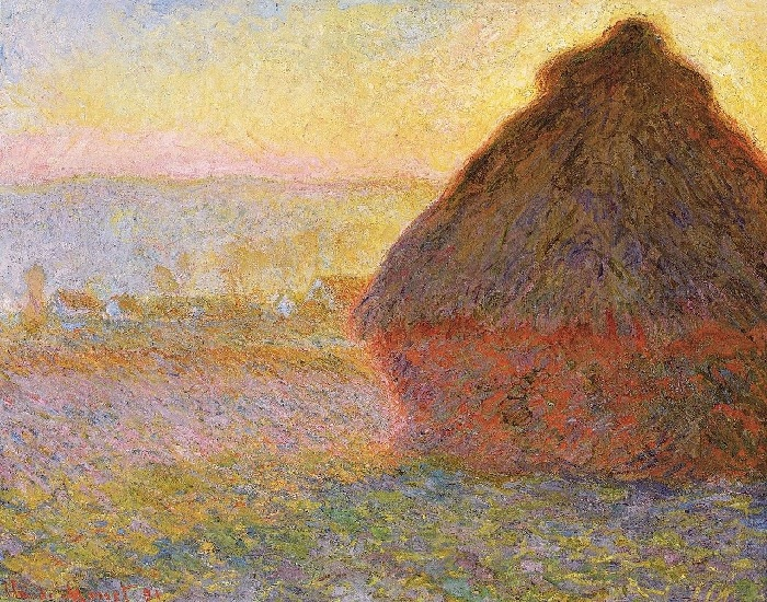 Claude Monet -Covone al crepuscolo 1890-1891