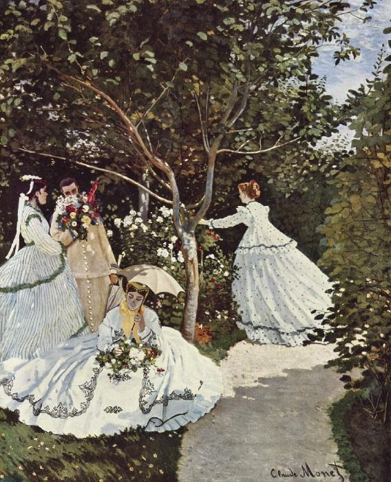 Claude Monet - Donne in giardino 1866-1867