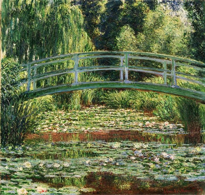 Claude Monet -Gigli e ponte giapponese 1899