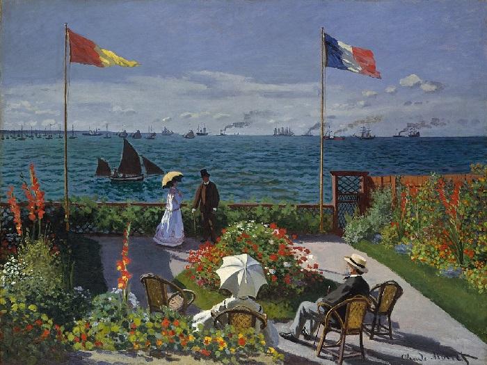 Claude Monet - La terrazza a Sainte-Adresse 1867
