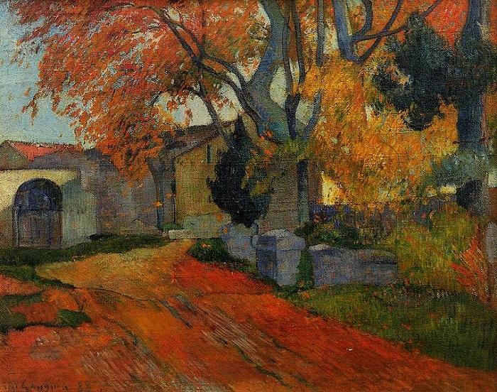 Paul Gauguin - L'Allée des Alyscamps, Arles 1888