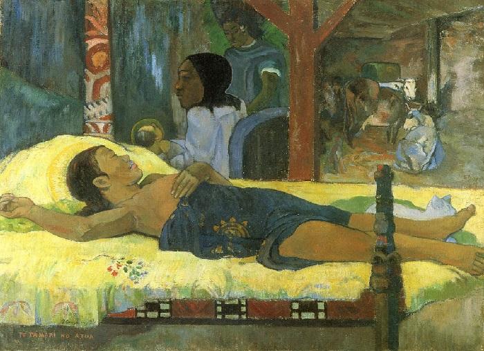 Paul Gauguin - La nascita di Cristo, figlio di Dio 1896