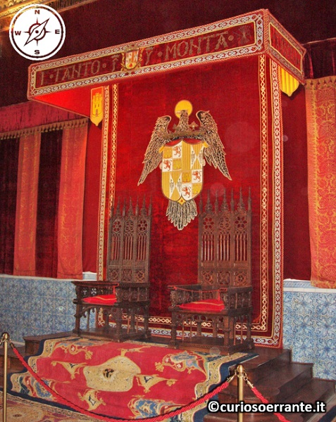 Segovia - Alcazar - sala reale del trono