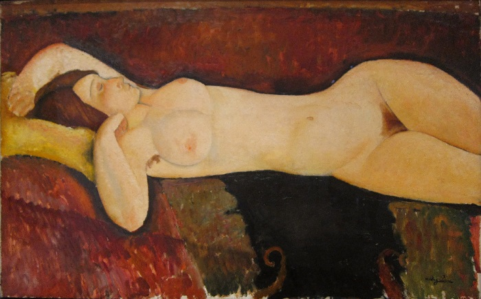 Amedeo Modigliani - Grande nudo disteso (1917)