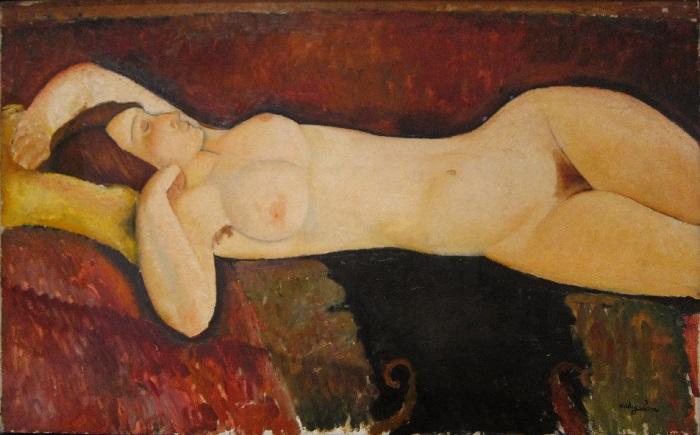 Amedeo Modigliani - Grande nudo disteso (1917)