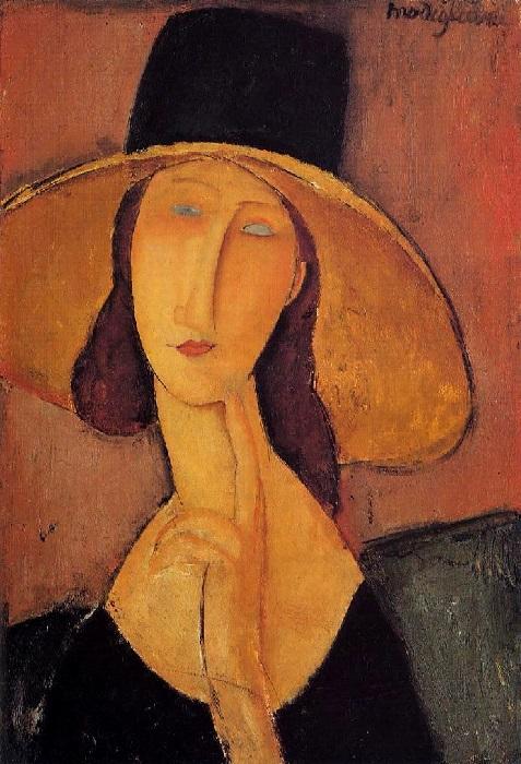 Amedeo Modigliani - Jeanne Hébuterne con cappello (1918)