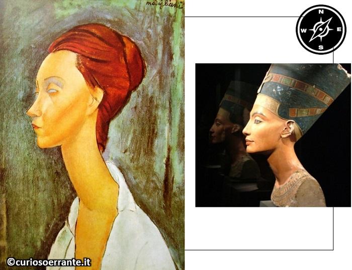 Amedeo Modigliani - Ritratto di Lunia Czechowska (1919) e Nefertiti