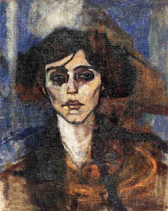 Amedeo Modigliani - Ritratto di Maude Abrantes (1907)