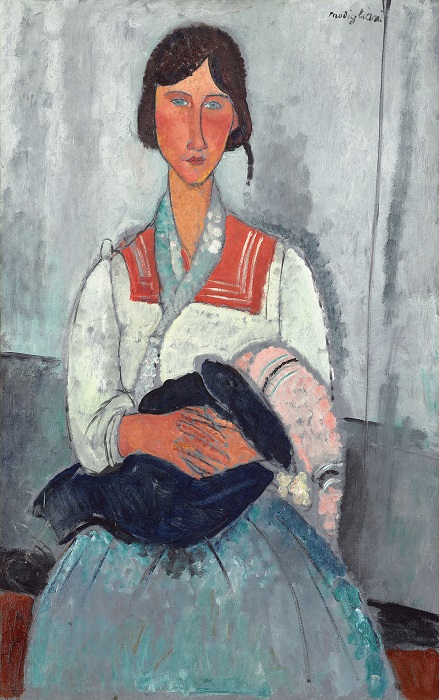Amedeo Modigliani - Zingara con bambino (1919)