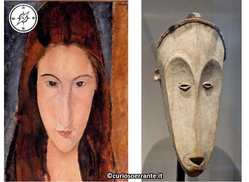 Amedeo Modigliani e il primitivismo, influenza dell'arte tribale africana