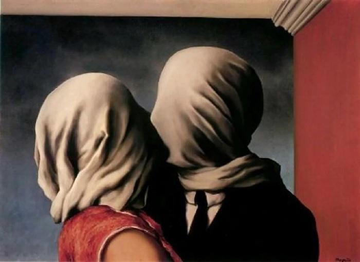 René Magritte - Gli amanti 1928