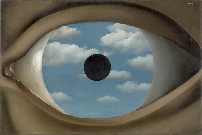 René Magritte - Il falso specchio (1928)