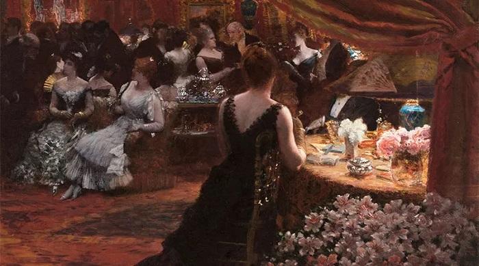 Giuseppe De Nittis - Il salone della principessa Matilde (1883)