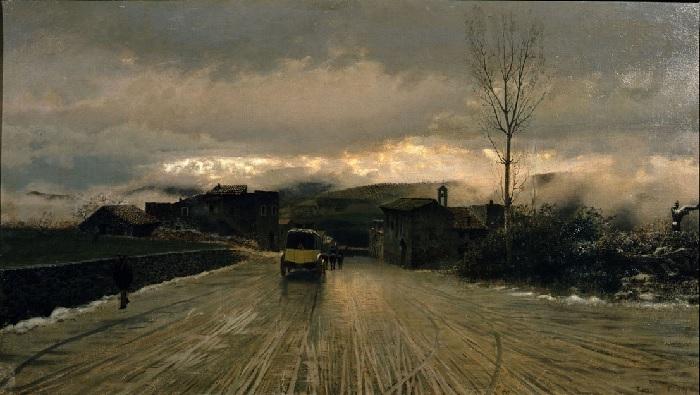Giuseppe De Nittis - La traversata degli Appennini (1867)