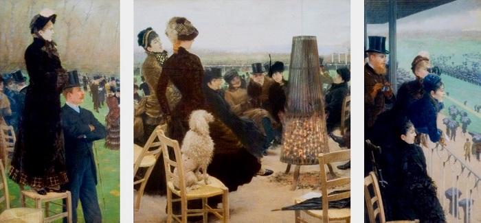 Giuseppe De Nittis - Le corse al Bois de Boulogne (1881)