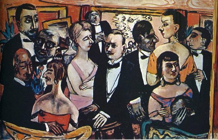 Max Beckmann - Party a Parigi (1947)