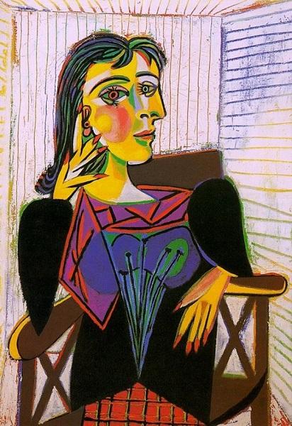 Pablo Picasso - Donna Maer seduta (1937)