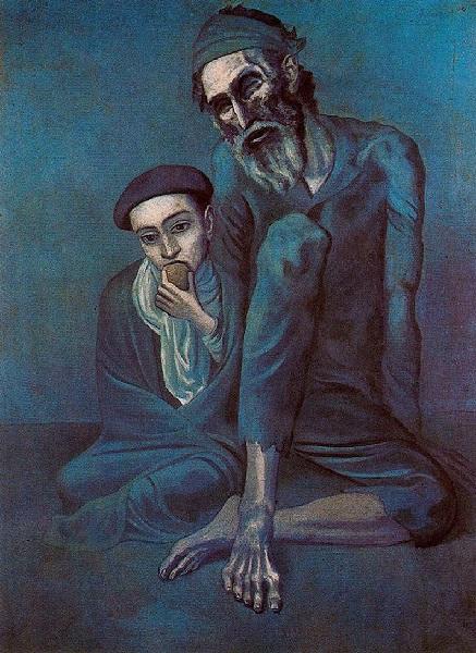 Pablo Picasso - Il vecchio ebreo (1903)