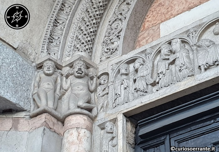 Piacenza - Cattedrale di Santa Maria Assunta e Santa Giustina - particolare del portale